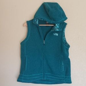 The North Face Vest Full Zipper W/Hoodie